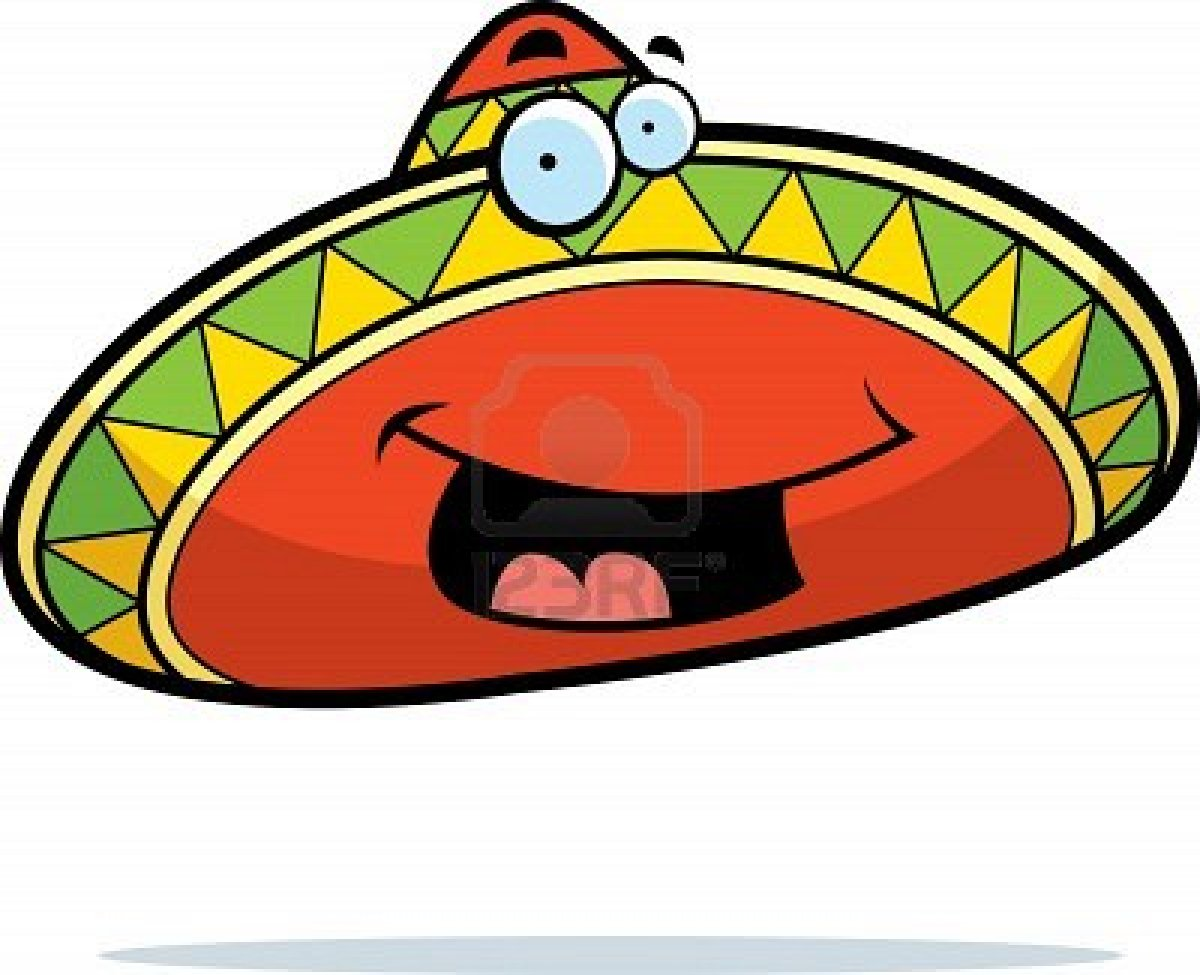Mexican with Sombrero Cartoon