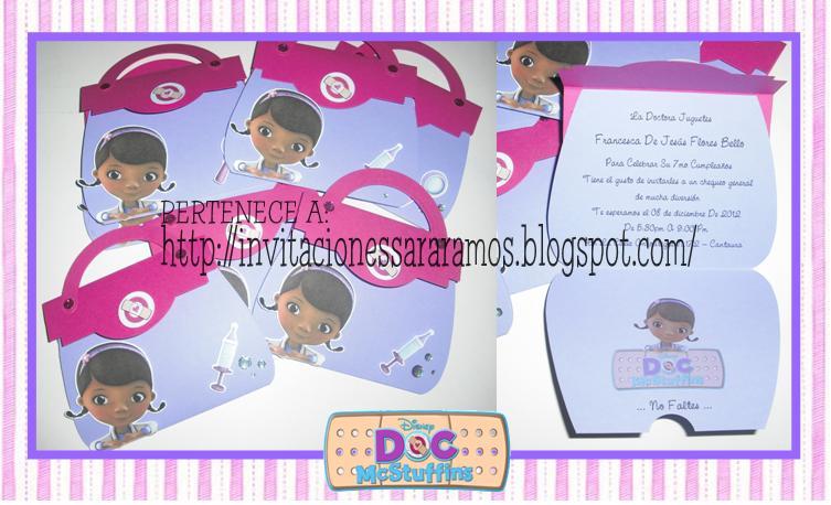 Tarjetas - Invitaciones Dra. Juguetes