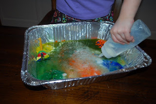 Science for preschoolers, experiments, toddlers, baking soda, vinegar