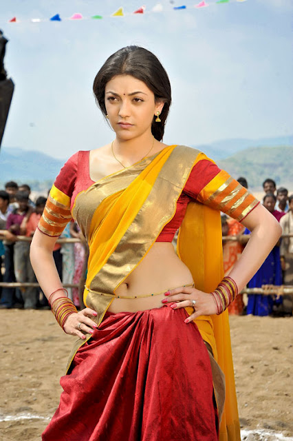 kajal agarwal in half saree hot images