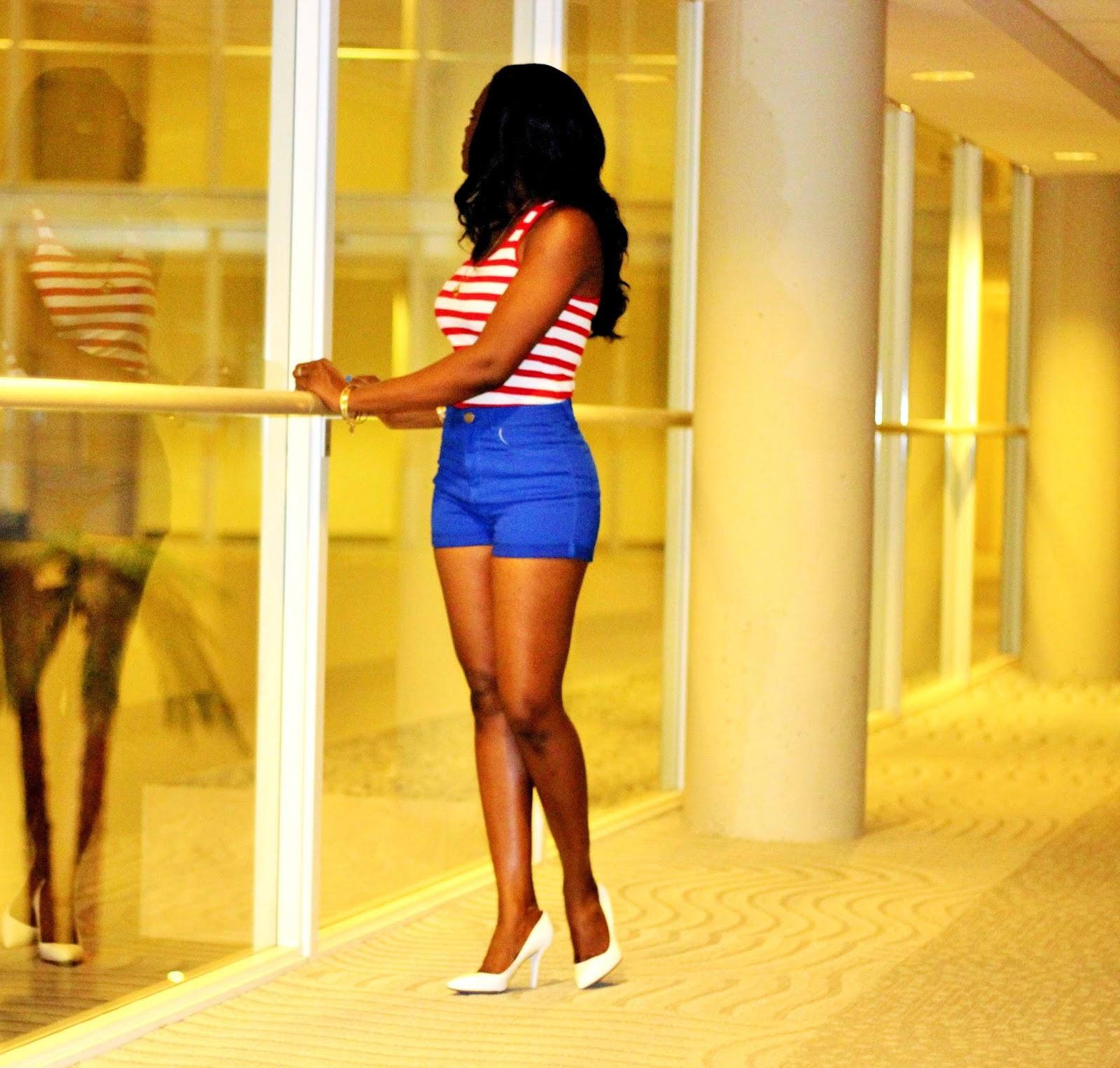 High waisyed shorts