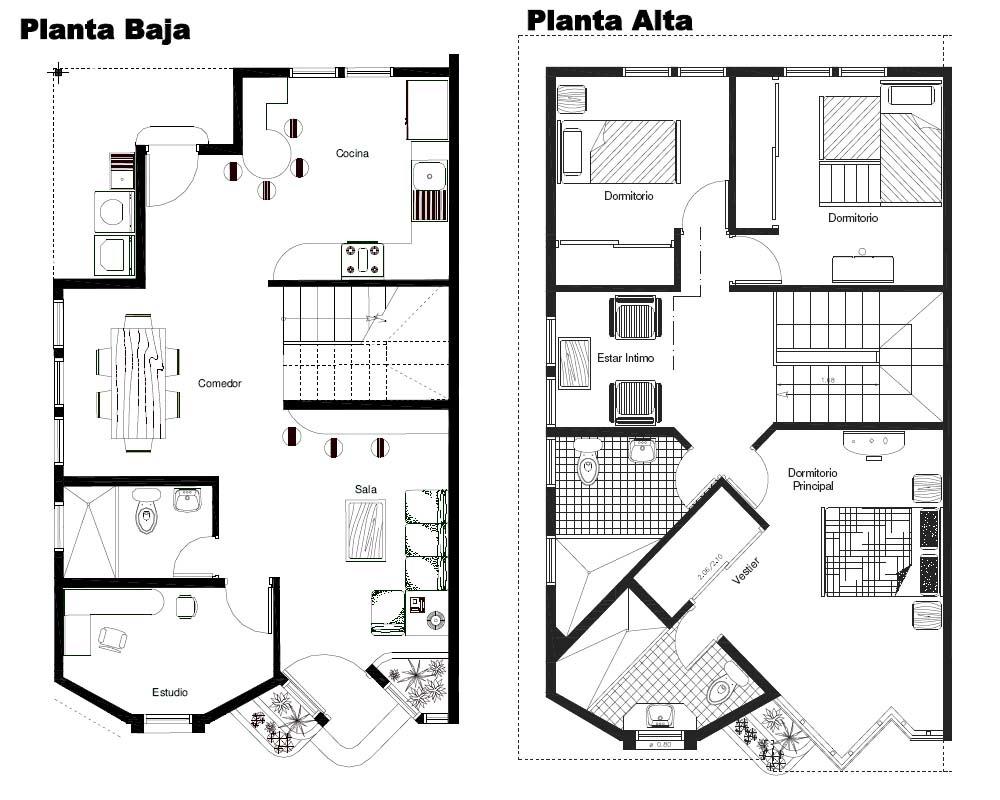 Tecnologia en obras civiles for Planos arquitectonicos de casas