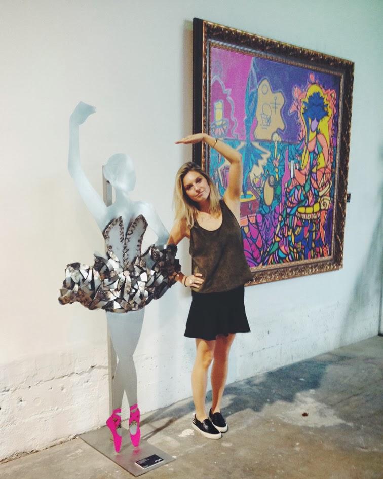 Alexander Mijares life size ballerina steel sculpture Miami Art Basel