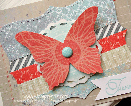 How to use several die-cuts (layered) on one card
