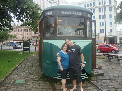 Bondinho de informações turísticas em Santos SP