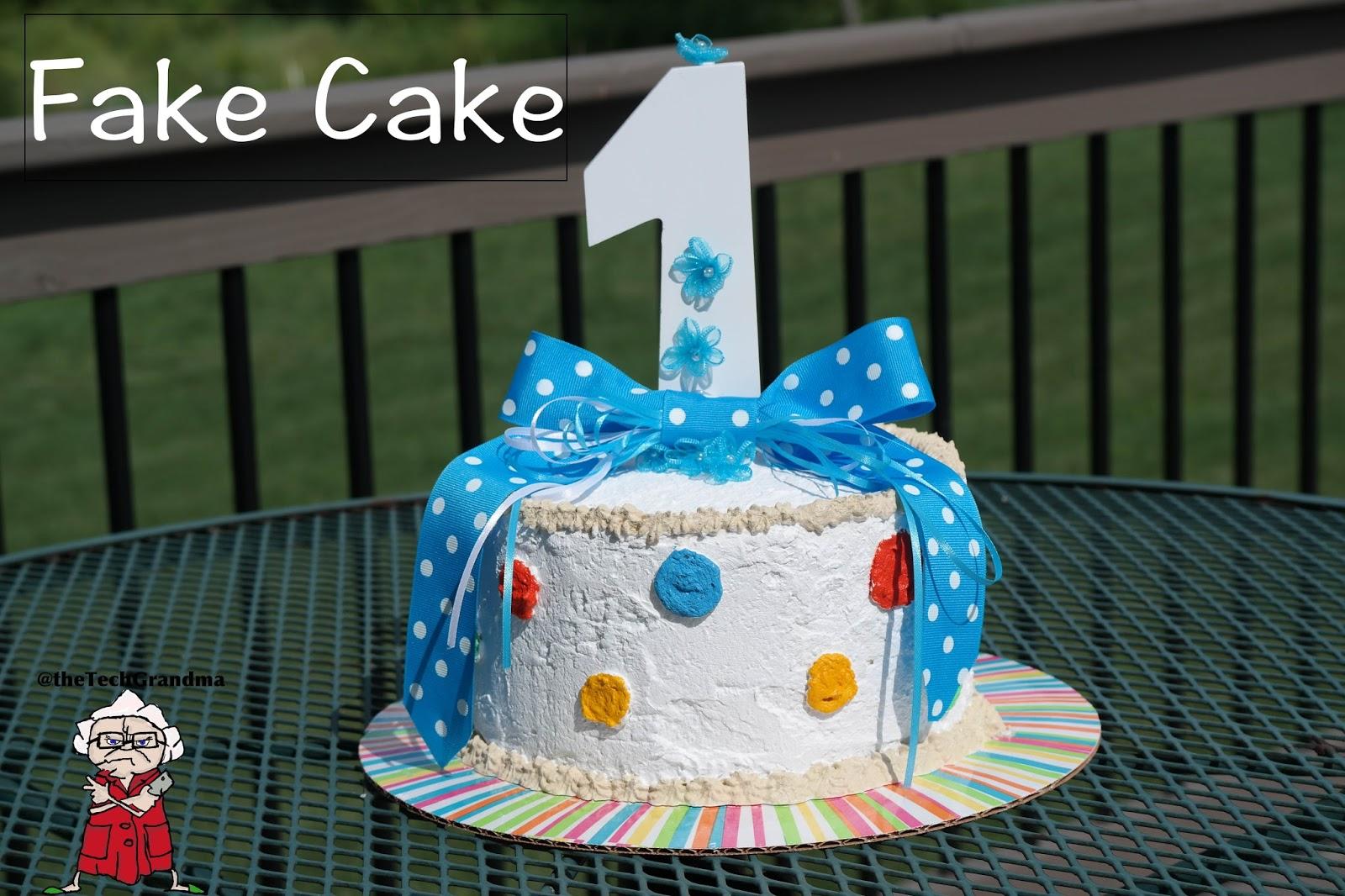 the tech grandma fake cake