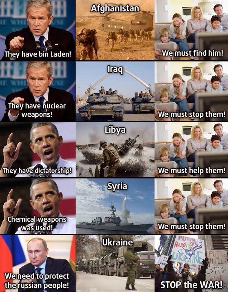 Russia, Vladimir Putin, Putin, Barack Obama, United States, George Bush, Crimea, Ukraine, War, Afghanistan, Iraq, Libya, Syria,