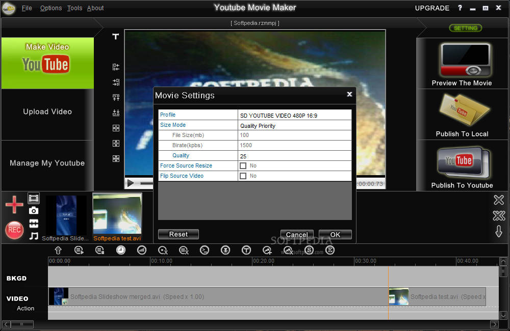 how to put youtube videos on windows movie maker