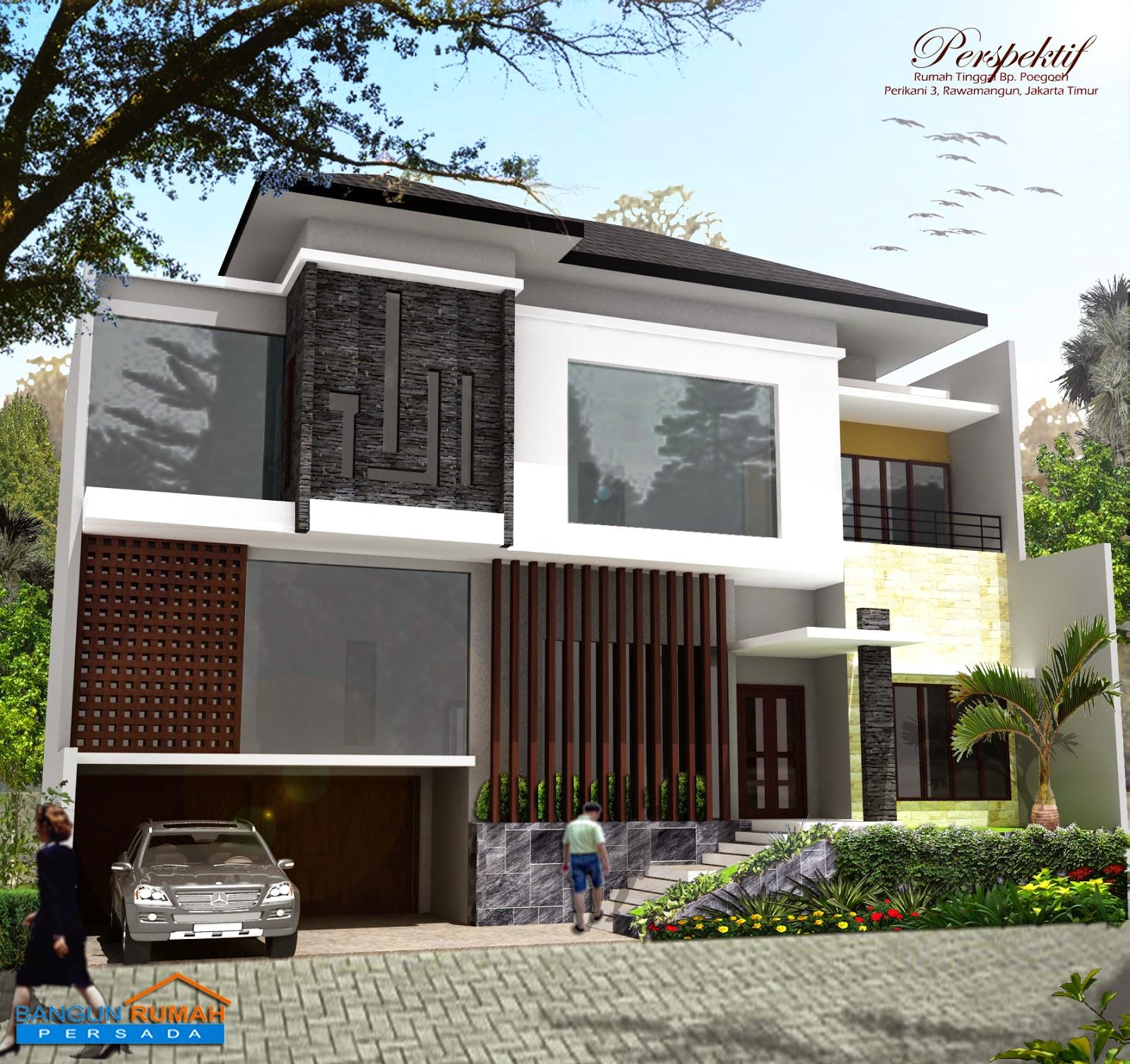 Desain Rumah Minimalis 2 Lantai Luas Tanah 200M2 Foto Desain