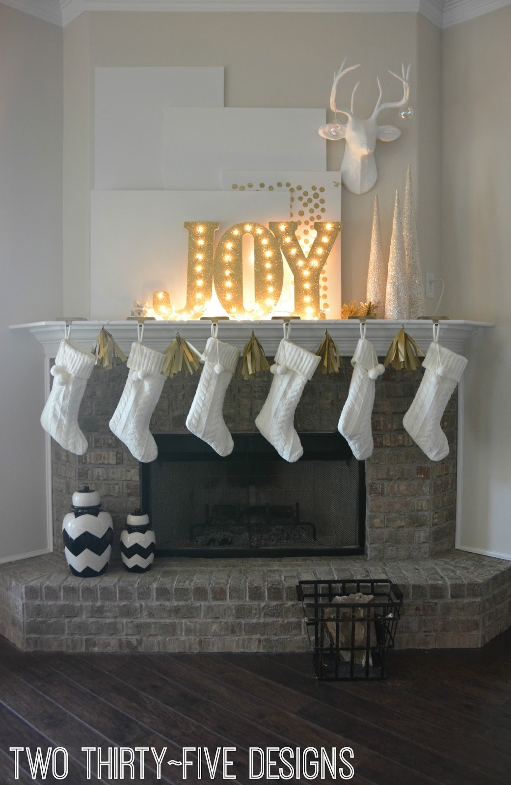 Gold Lit Letters Christmas Mantel And Diy Illuminated Letters