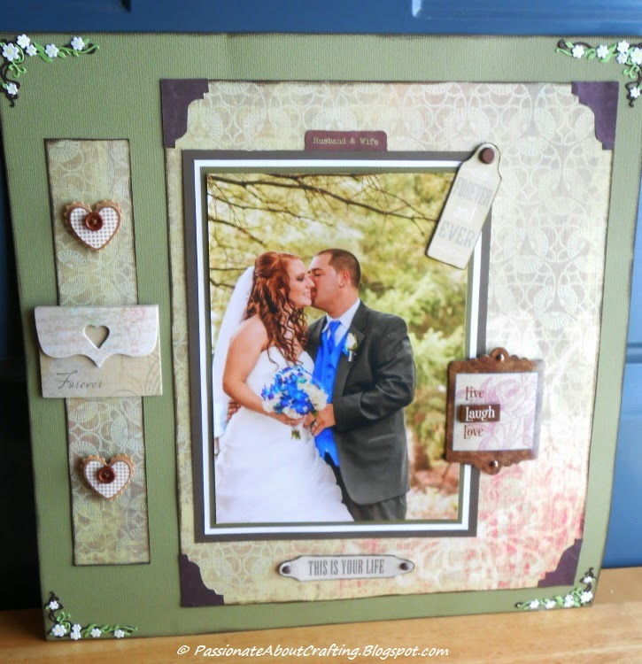Passionate About Crafting : Rustic Wedding Scrapbooking Page Layout Idea