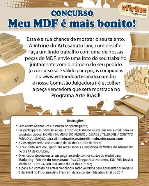 """Concurso """"Meu MDF é mais bonito!"""""""