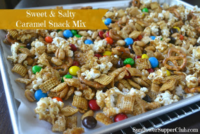 Sweet & Salty Caramel Snack Mix, shared by Sunflower Supper Club