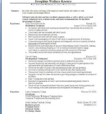 video introduction and resume posting august 2011