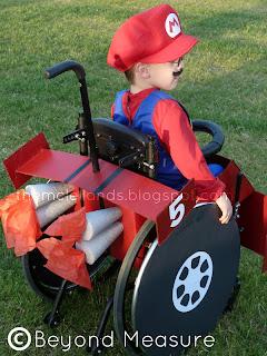 Mario cart costume - little boy in wheelchair