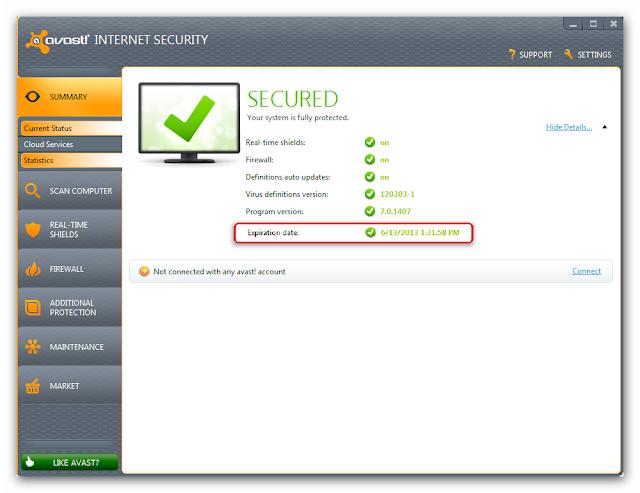 Avast Internet Security v7.0.1426 License File  I  Valid Till (13-06-2013)   I  100% Working  I  1.65 KB