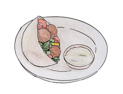 draw falafel