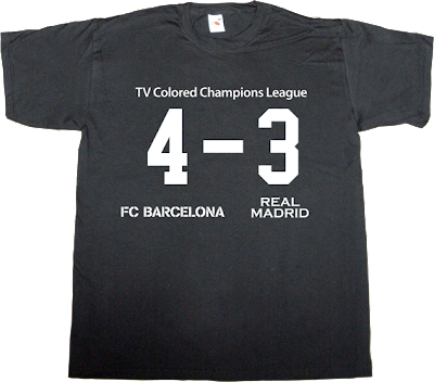 fc Barcelona real madrid Pep Guardiola TV t-shirt ephemeral-t-shirts