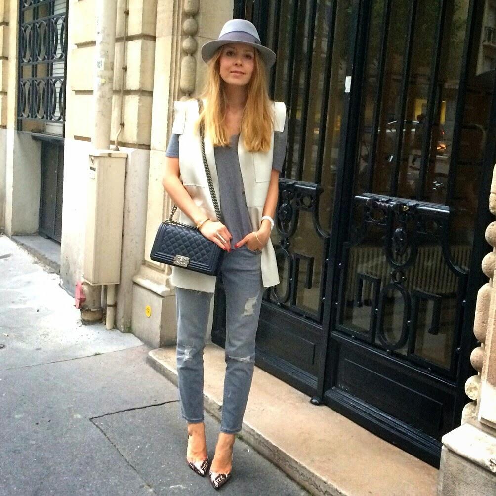 fashion blogger, instagram, céline, chanel, zara, givenchy, maison michel