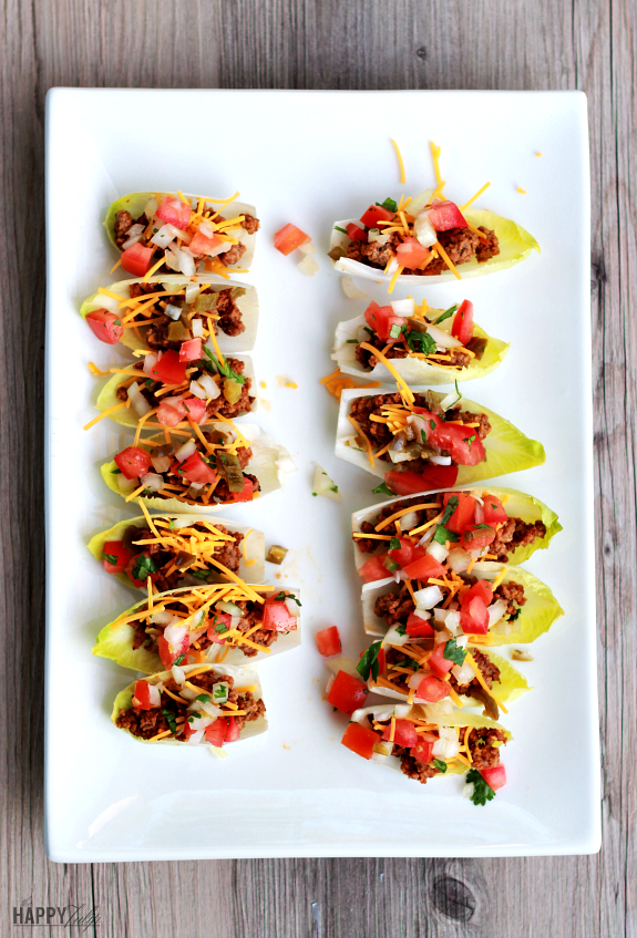 endive taco boats — low carb, delicious, and paleo! │ thehappytulip.com
