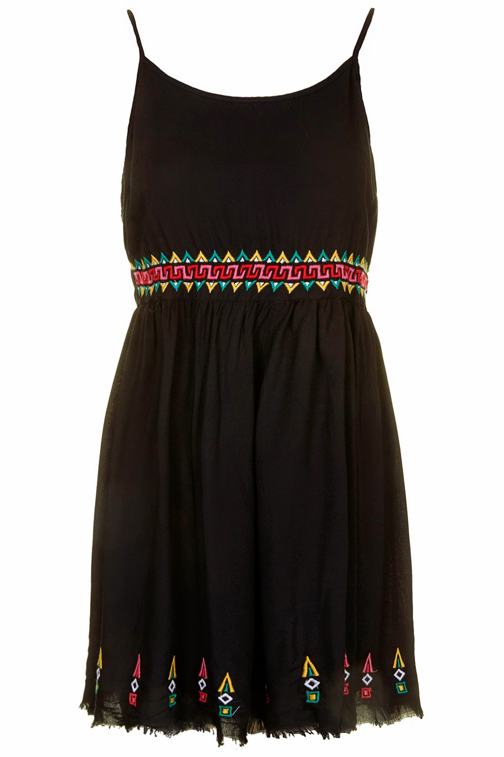 black frayed dress