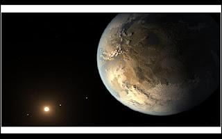 """Cientistas da Nasa anunciaram uma das descobertas mais importantes da história. Agora os pesquisadores estão mais próximos de elucidar o mistério da possibilidade da existência de vida fora da Terra. A agência espacial americana revelou que foi encontrado fora do sistema solar um planeta muito parecido com o nosso, uma espécie de """"Terra 2.0"""". O planeta rochoso, batizado de Kepler 452B é 1,5 vezes maior que a Terra e é potencialmente habitável."""