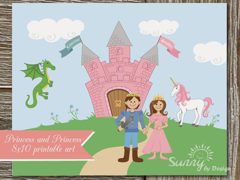 Sunny by Design: Prince and Princess Twins First birthday party ...