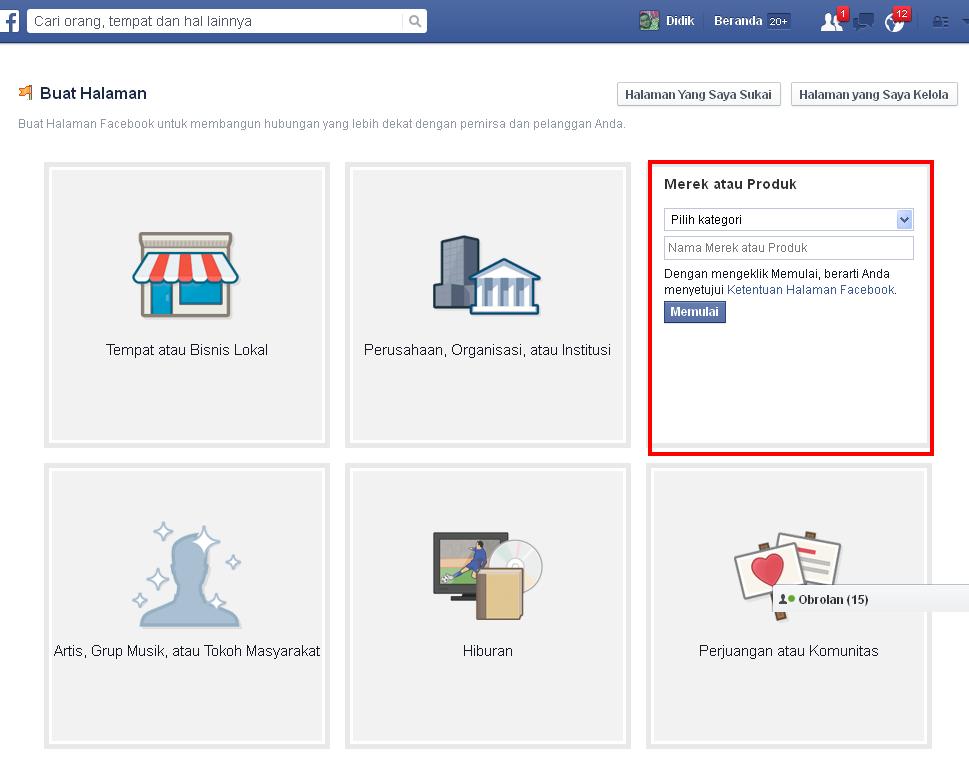 cara mudah buat halaman situs/blog di facebook