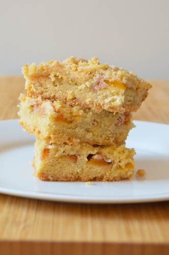 Peach Shortbread Bars by Dawn Witman | Epicurious Community Table