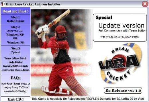 Brian Lara Cricket 99 SE-2008 For Xp