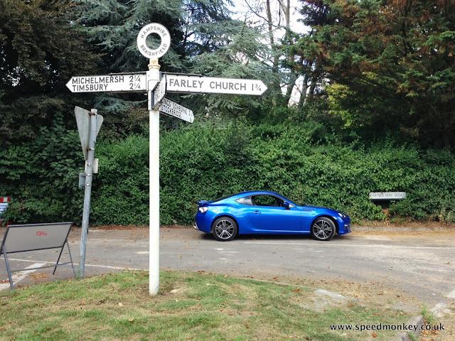 Subaru BRZ in Blue Mica