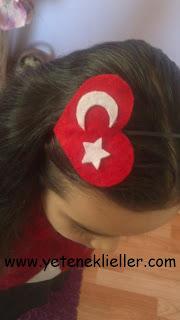 keçe türk bayrağı taç