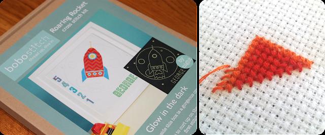 Bobo Stitch rocket cross stitch pattern - The Handmade Fair