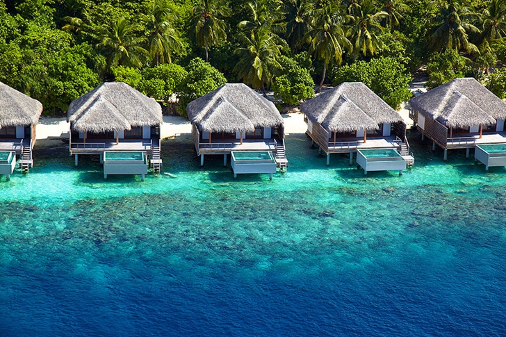 Tropical residences in Luxury Dusit Thani Resort in Maldives