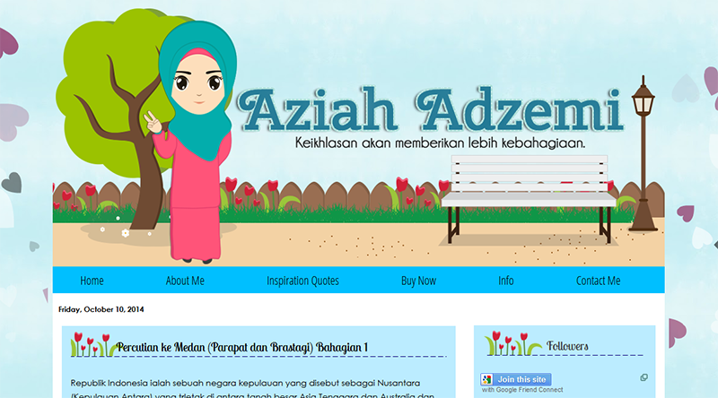 Tempahan Edit Blog - Aziah Adzemi