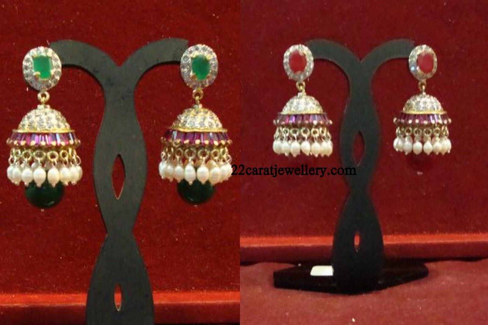 Beautiful One Gram Gold Jumkas Imitation Jewellery Jewellery Designs