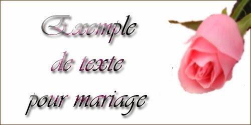Exemple de texte pour mariage
