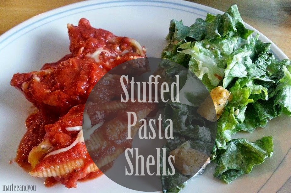 stuffed pasta shells | marlee and you