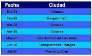 Calendario de Torneos (Carrera 2015)