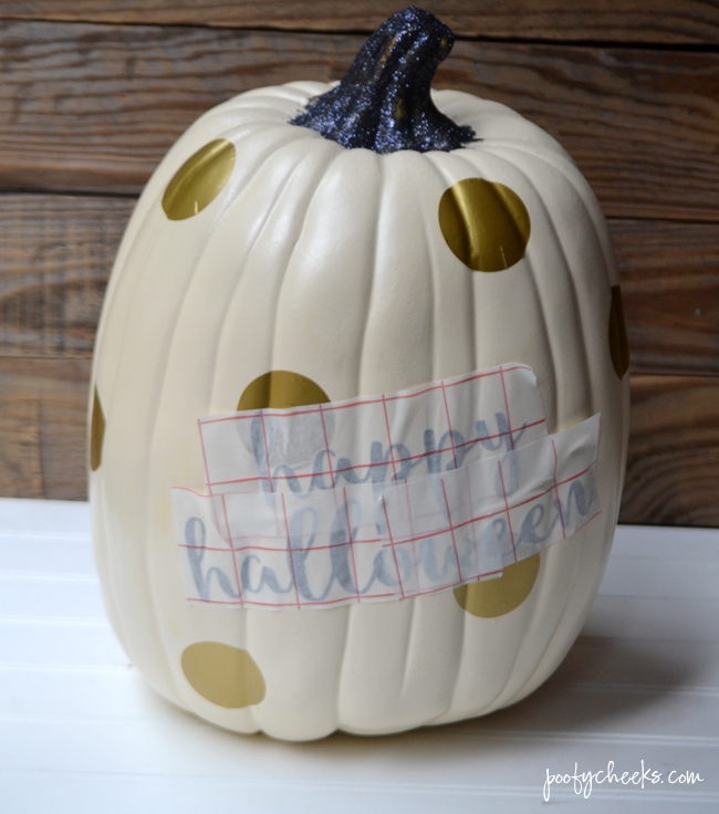 Gold Glam Pumpking Craft - Fake Pumpkin