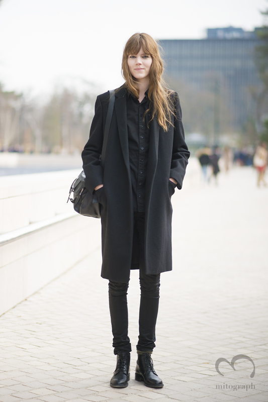 Model Freja Beha Erichsen leaves Louis Vuitton 2015-2016 show during Paris Fashion Week PFW