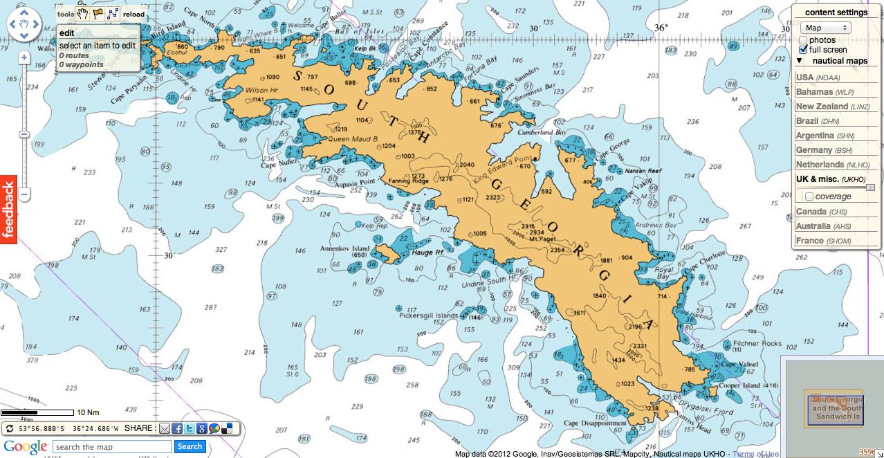 South Georgia Map - Map of south georgia