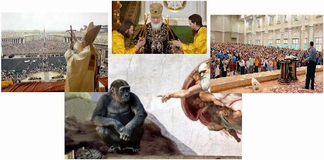 Igreja Católica, protestante,ortodoxa, e materialismo ateísmo