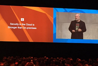 CTO Werner Vorgels with the main message - The Cloud is Secure!