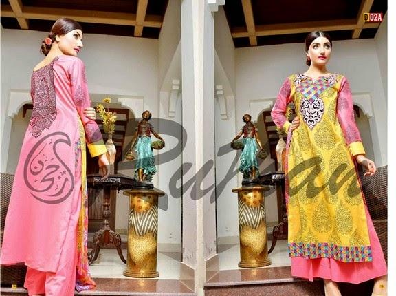 FestivanaEidCollectionByRujhanFabrics wwwfashionhuntworldblogspot 12  - Festivana Eid Collection 2014-2015 By Rujhan Fabrics
