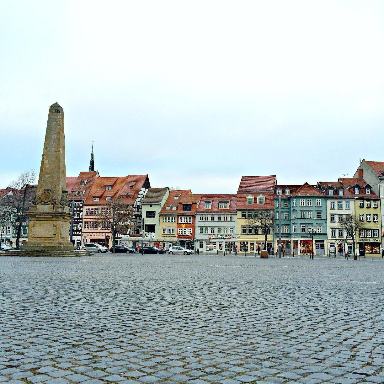 Erfurt, Thüringen, Krämerbrücke, Dom, Erfurter Dom, Domplatz
