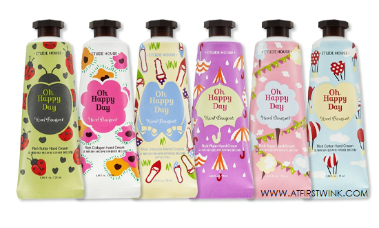 Etude House Oh Happy Day hand Bouquet hand creams