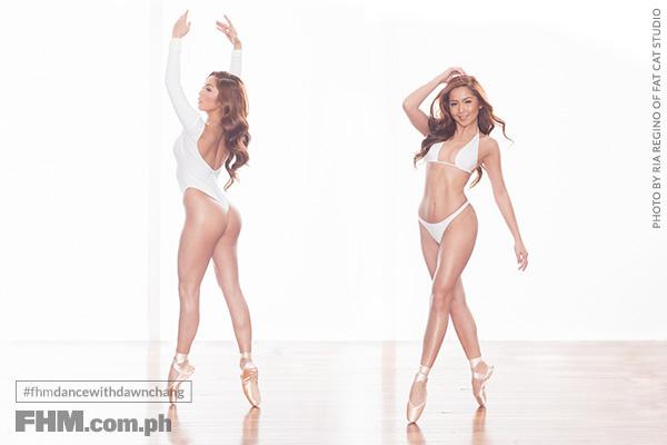 Dawn CHang white bikini