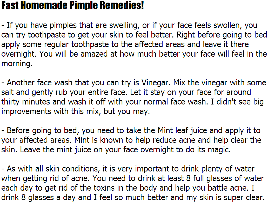 Homemade Pimple TreatmentFast Homemade Pimple Remedies!Acne