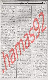 وظائف خالية من جريدة الجمهورية السبت 552012
